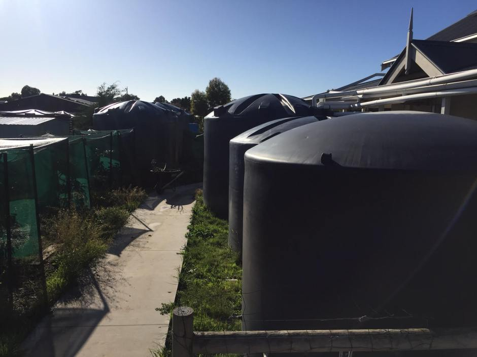 Corner - tank farm
