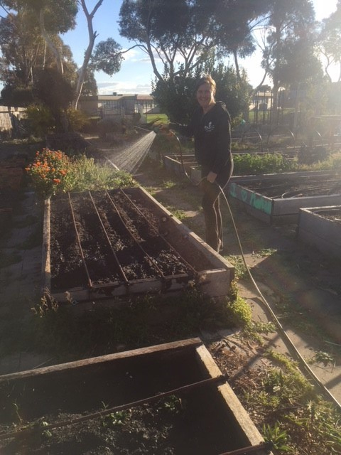 Spring - watering new beds